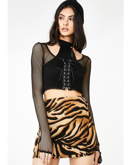 Big Cat Energy Wrap Skirt