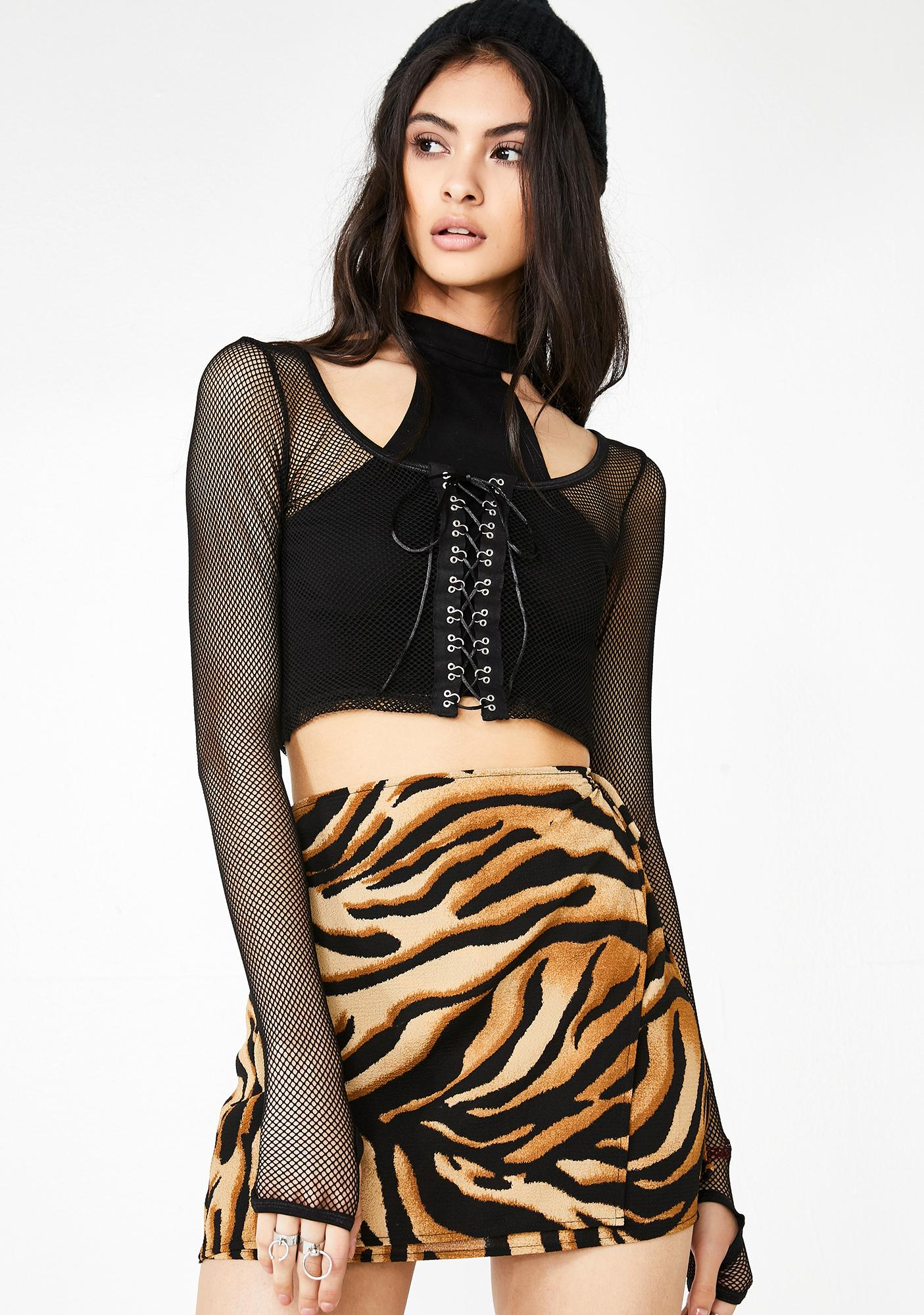Big Cat Energy Wrap Skirt