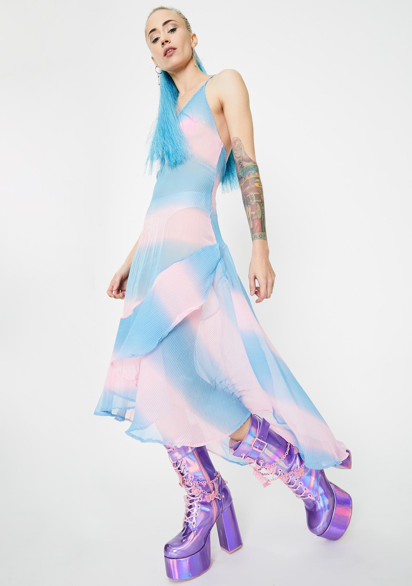 Sparkl Fairy Couture Cotton Candy Suave Maxi Dress