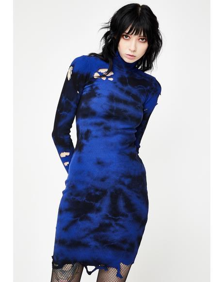 Deep Down Distressed Dress