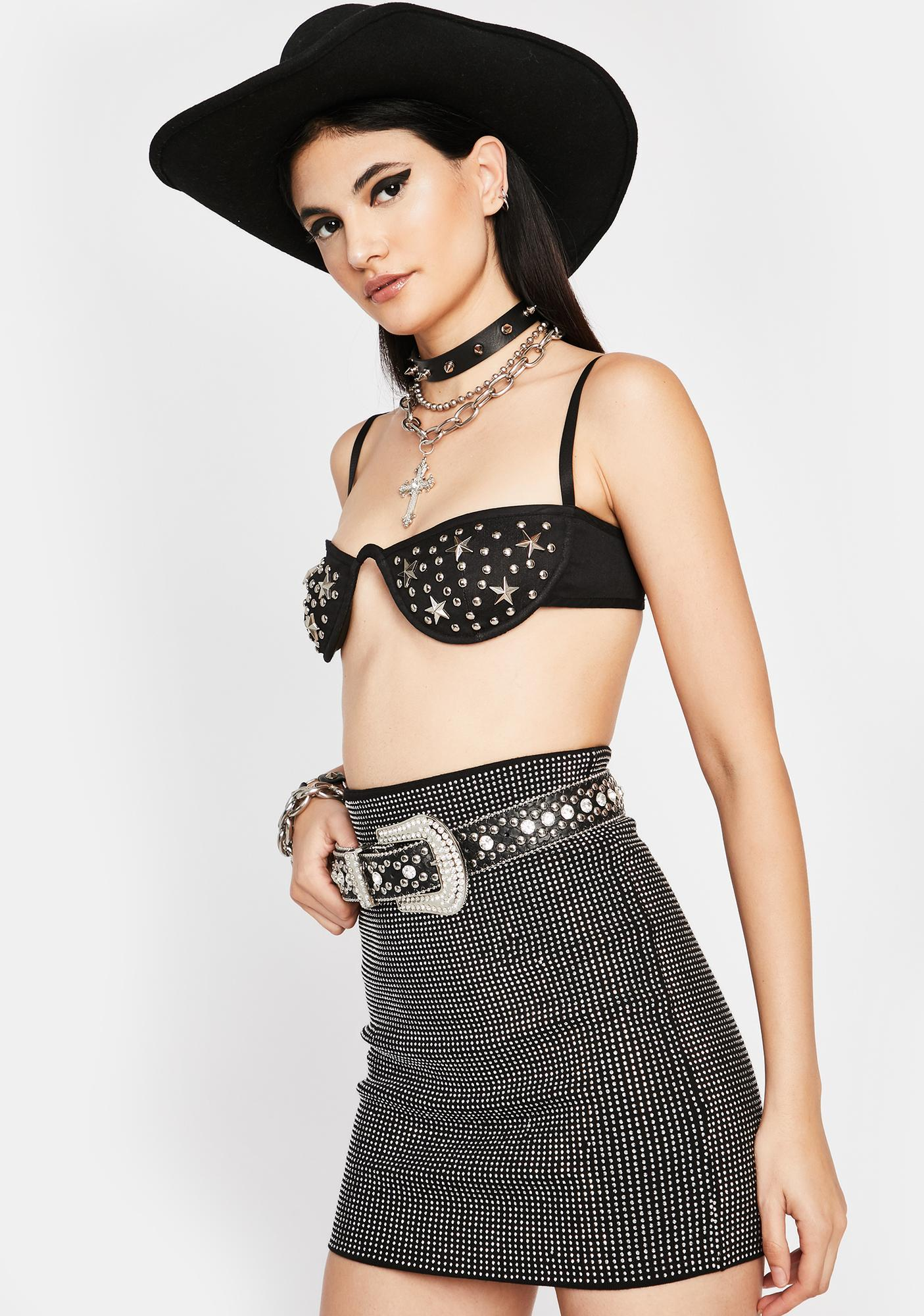 About That Bling Rhinestone Skirt