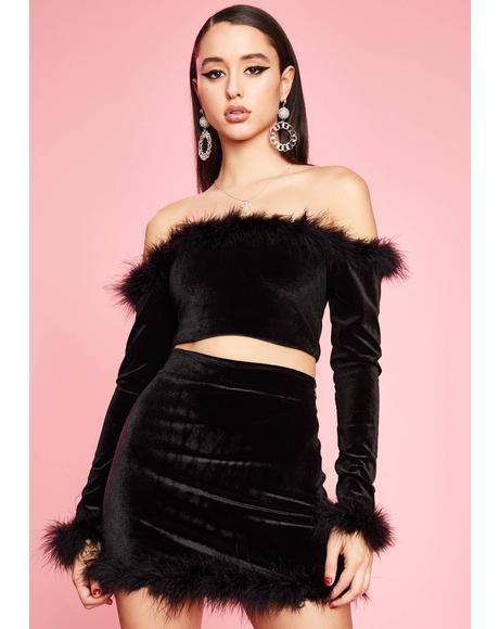 Filthy Femme Velvet Mini Skirt