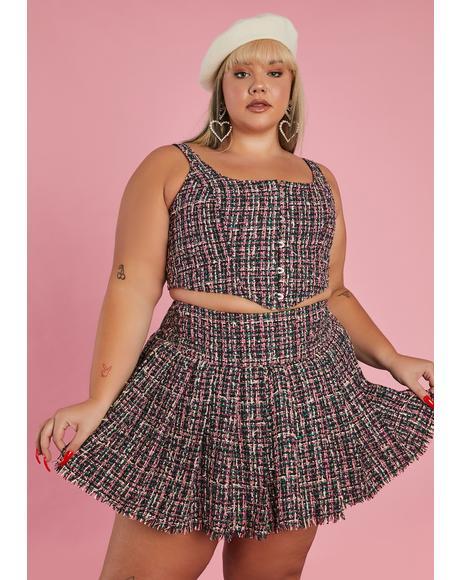 Oh Pish Posh Tweed Skirt