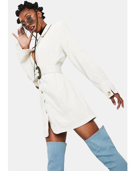 Ivory Carson Blazer Dress