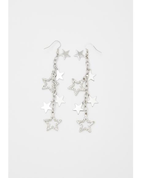 Kiss The Stars Dangle Earrings