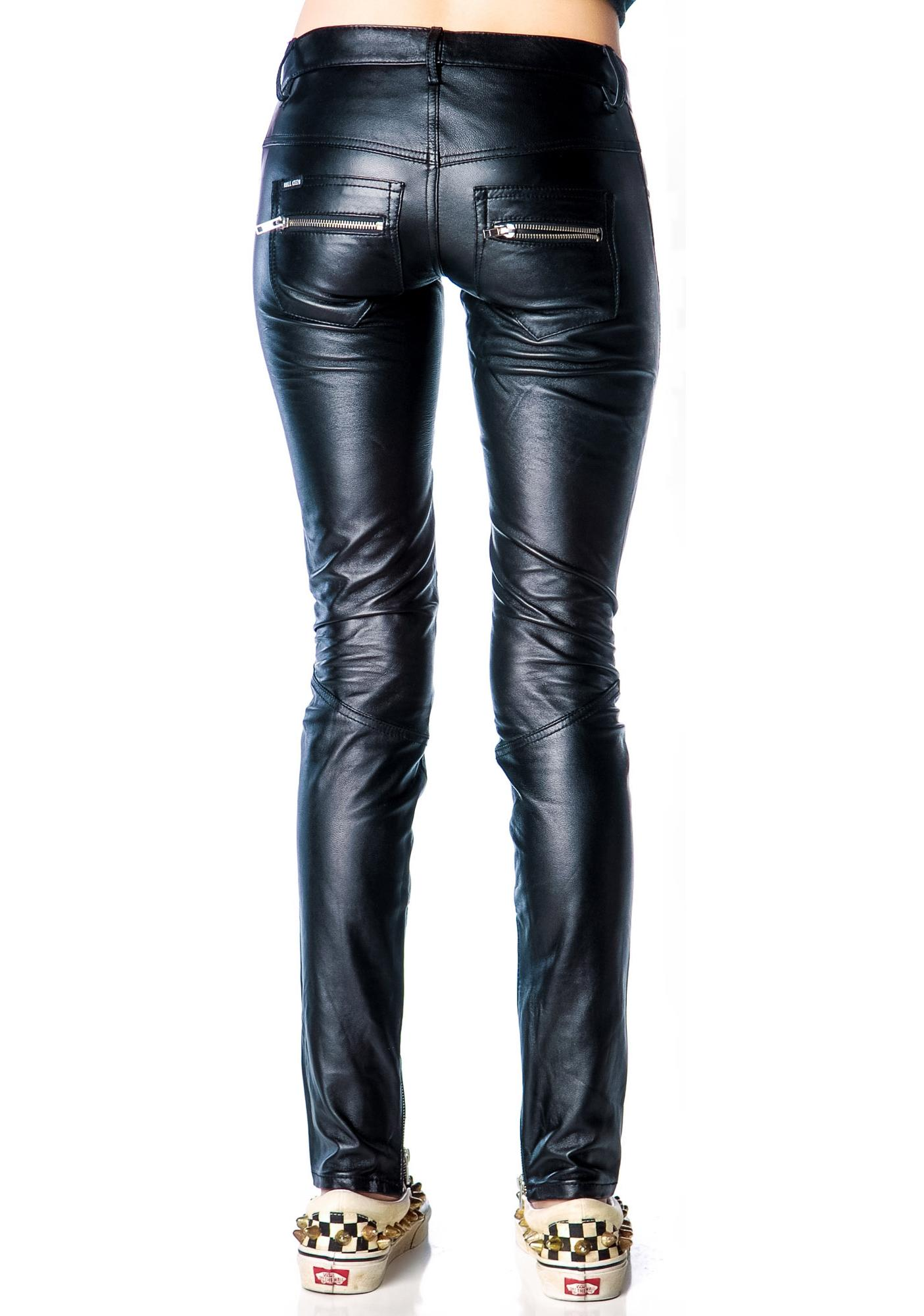 Kill City Junkie Lace Up Fly Leather Pants