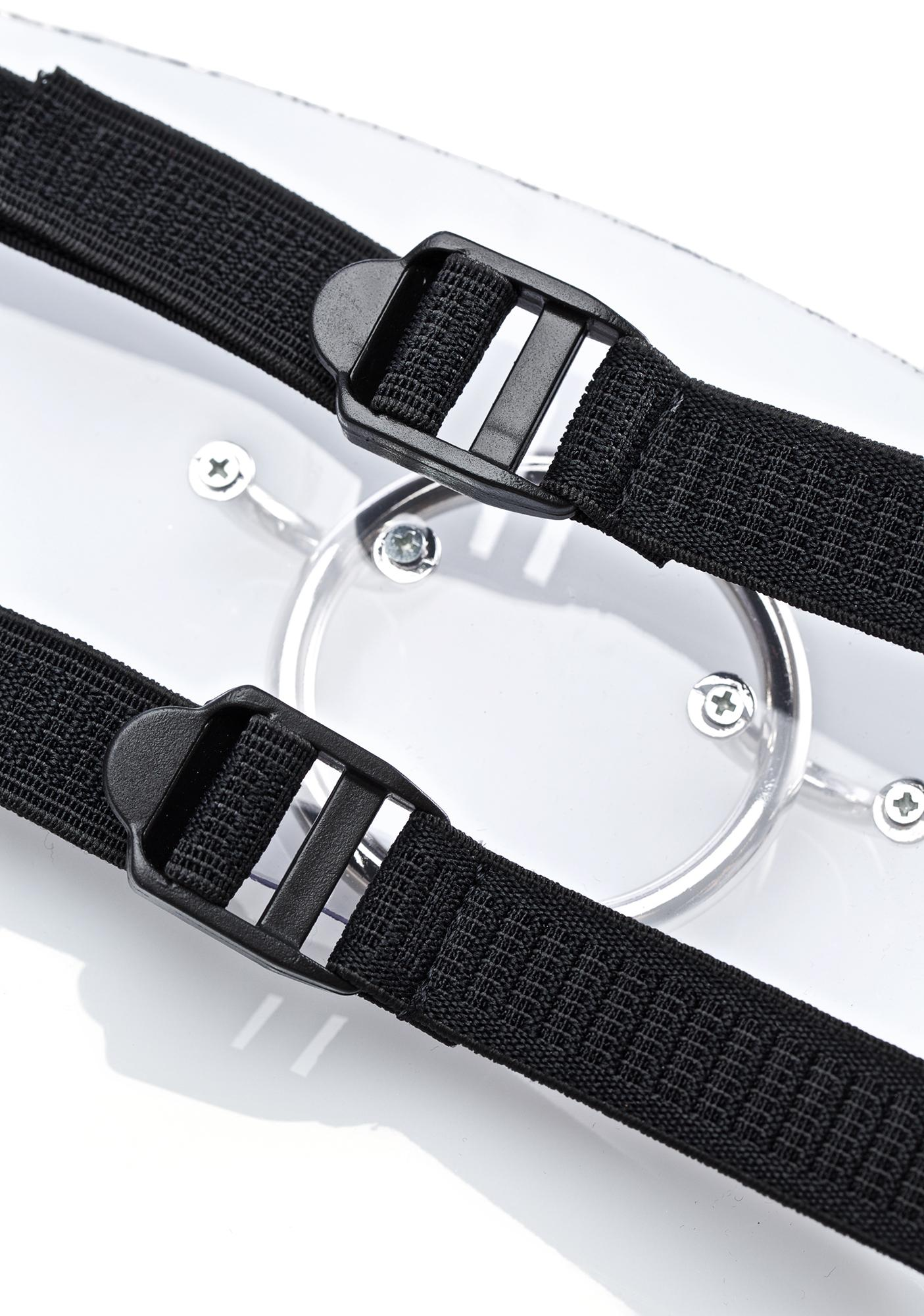 Club Exx Clearly Crazy O-Ring Leg Harness