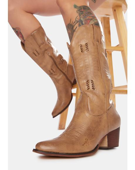 Tan Ride 'Til Dawn Cowboy Boots
