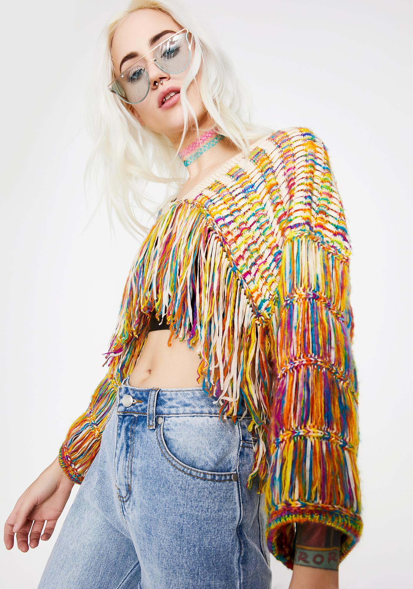 Nada Pinata Rainbow Sweater