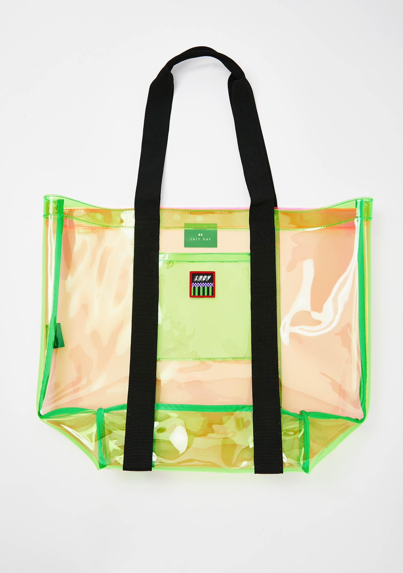 Lazy Oaf Neon Transparent Tote