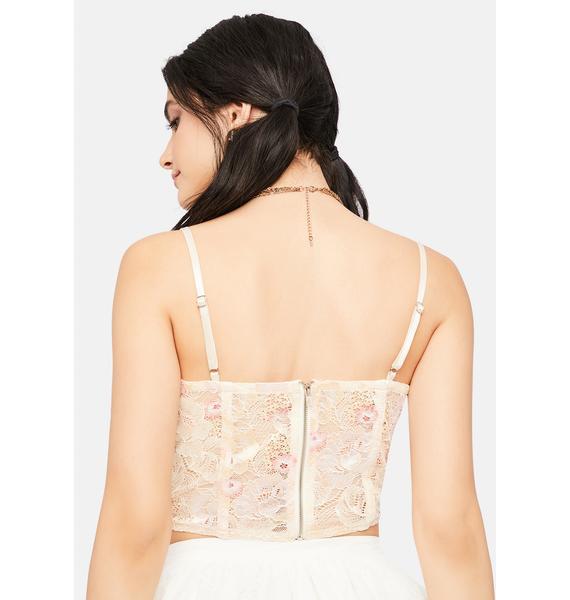 Blush Secret Bloom Lace Bustier