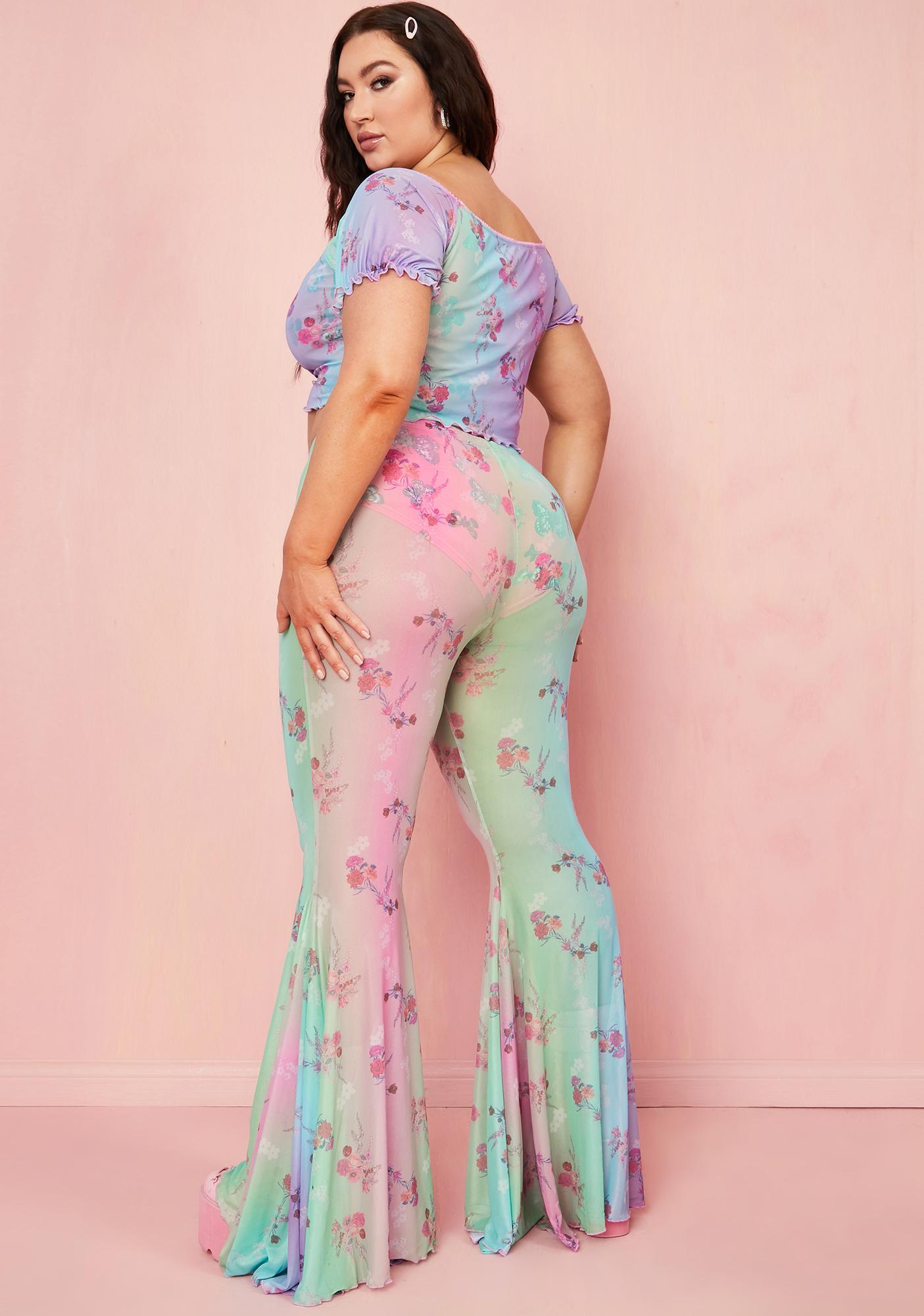 Sugar Thrillz Delish Pixie Spritzer Flare Pants