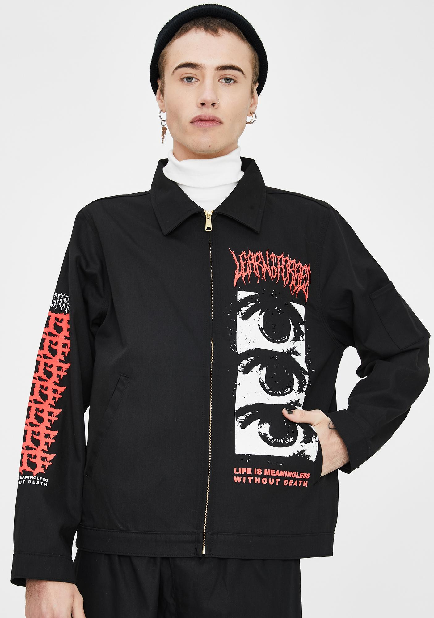 Learn To Forget Red Death Graphic Jacket