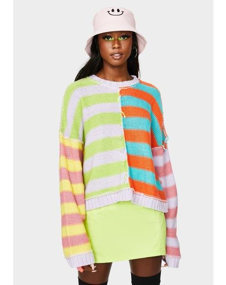 Editor Striped Knit Sweater