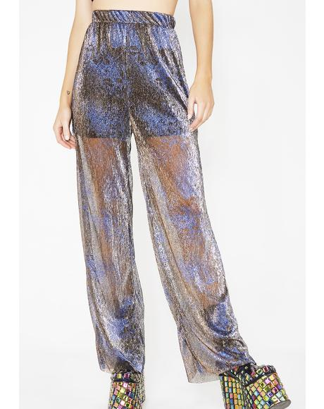 Electrified Heart Metallic Pants
