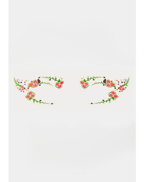 Wicked Wreaths Temporary Eye Tattoo