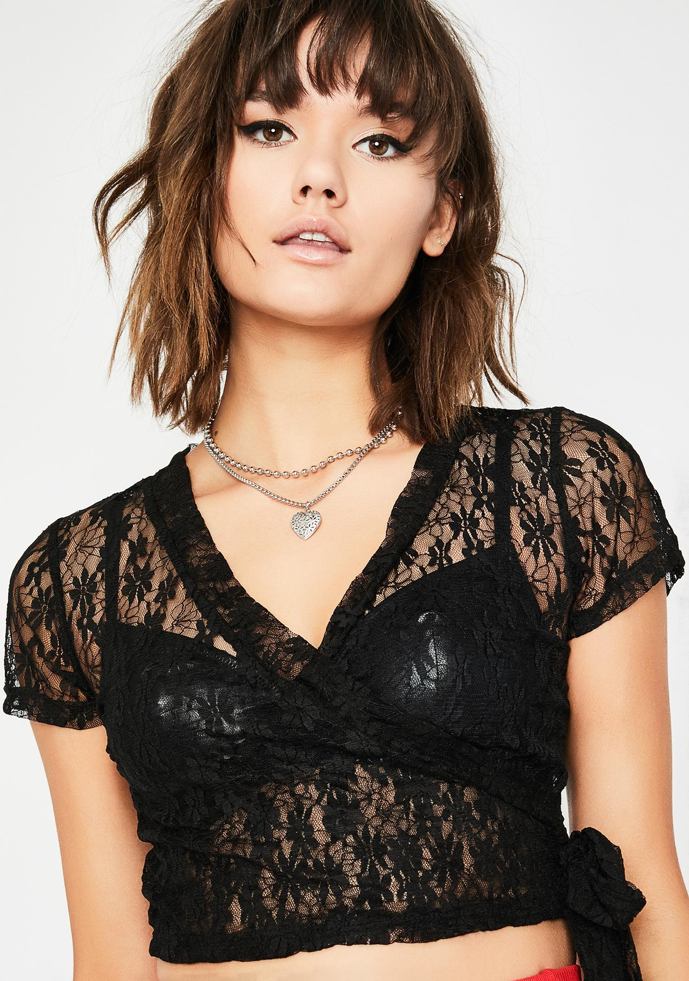 Dark Crushin' A Lot Lace Top