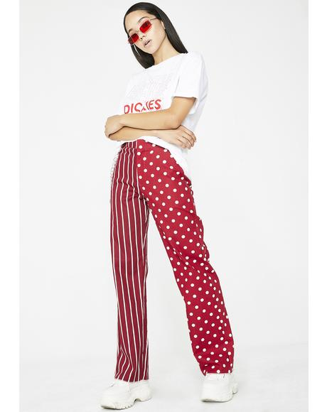 Two Face Pant In Red