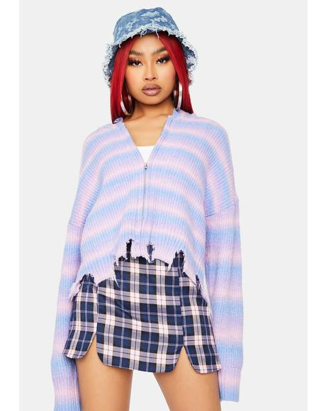 Cotton Candy Skies Zip Up Hoodie