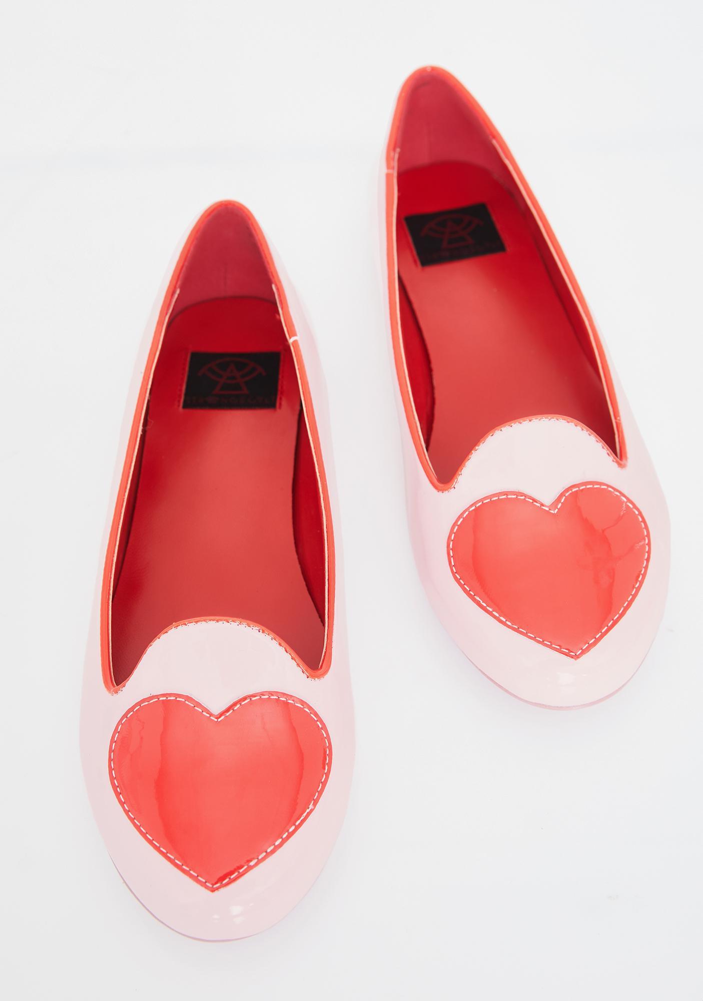 Strange Cvlt Lydia Heart Ballet Flats