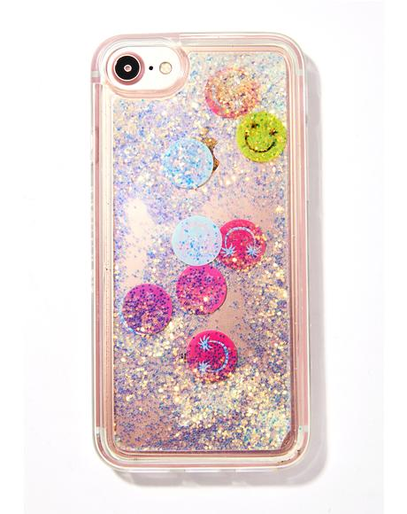 Smiley Glitter iPhone Case