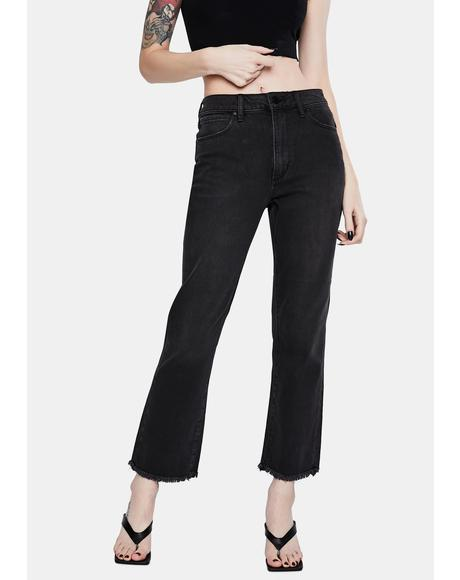 Kate High Waisted Straight Crop Jeans