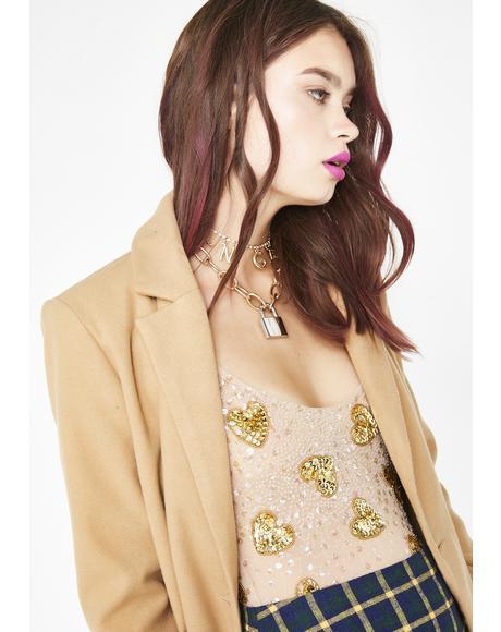 Sequined Heartbreaker Bodysuit
