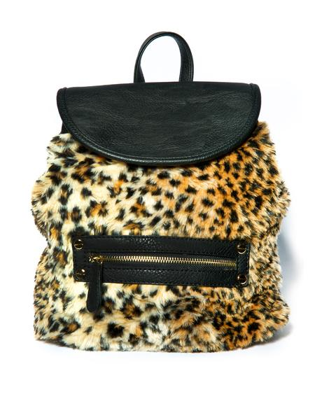 Cheetah Fur Mini Backpack