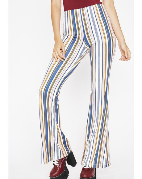 Step To It Stripe Flares