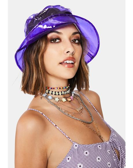 Chic Throwback Vinyl Bucket Hat