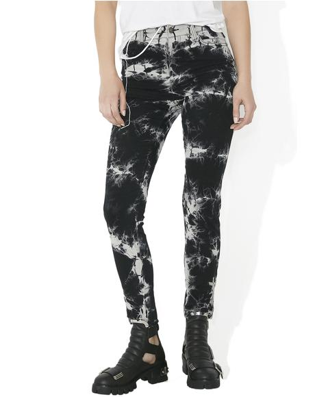 High Waisted Tie-Dye Pants