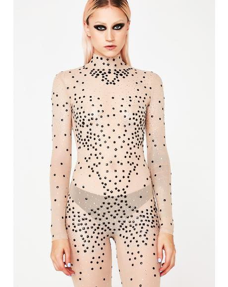 Desert Qween Embellished Catsuit