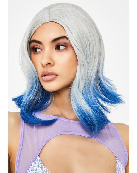 Punk Mermaid Dip Dye Wig