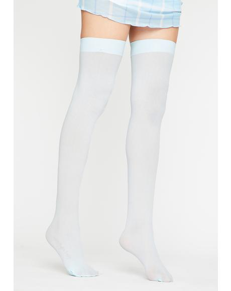 Wavy Angel Of Mine Sheer Thigh Highs