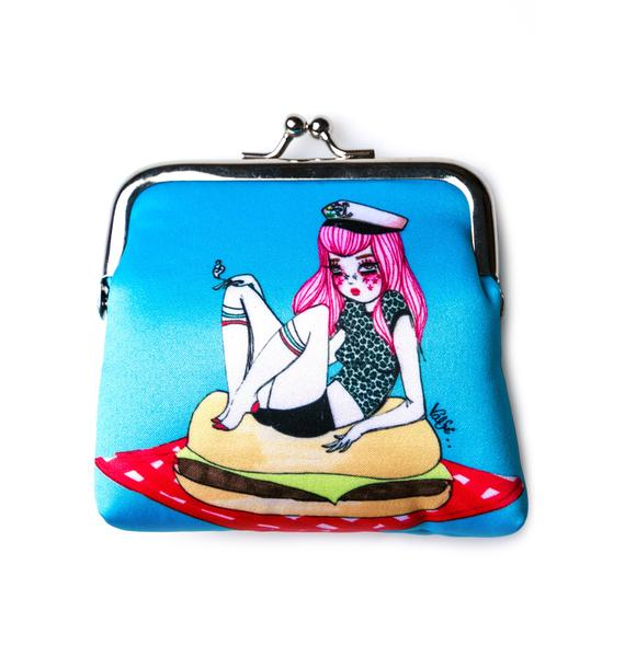 Valfré Cheeseburger Gal Coin Purse