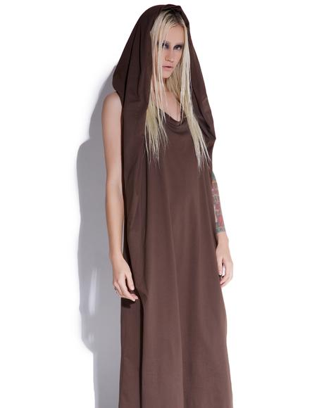 Cryptic Hooded Maxi Dress