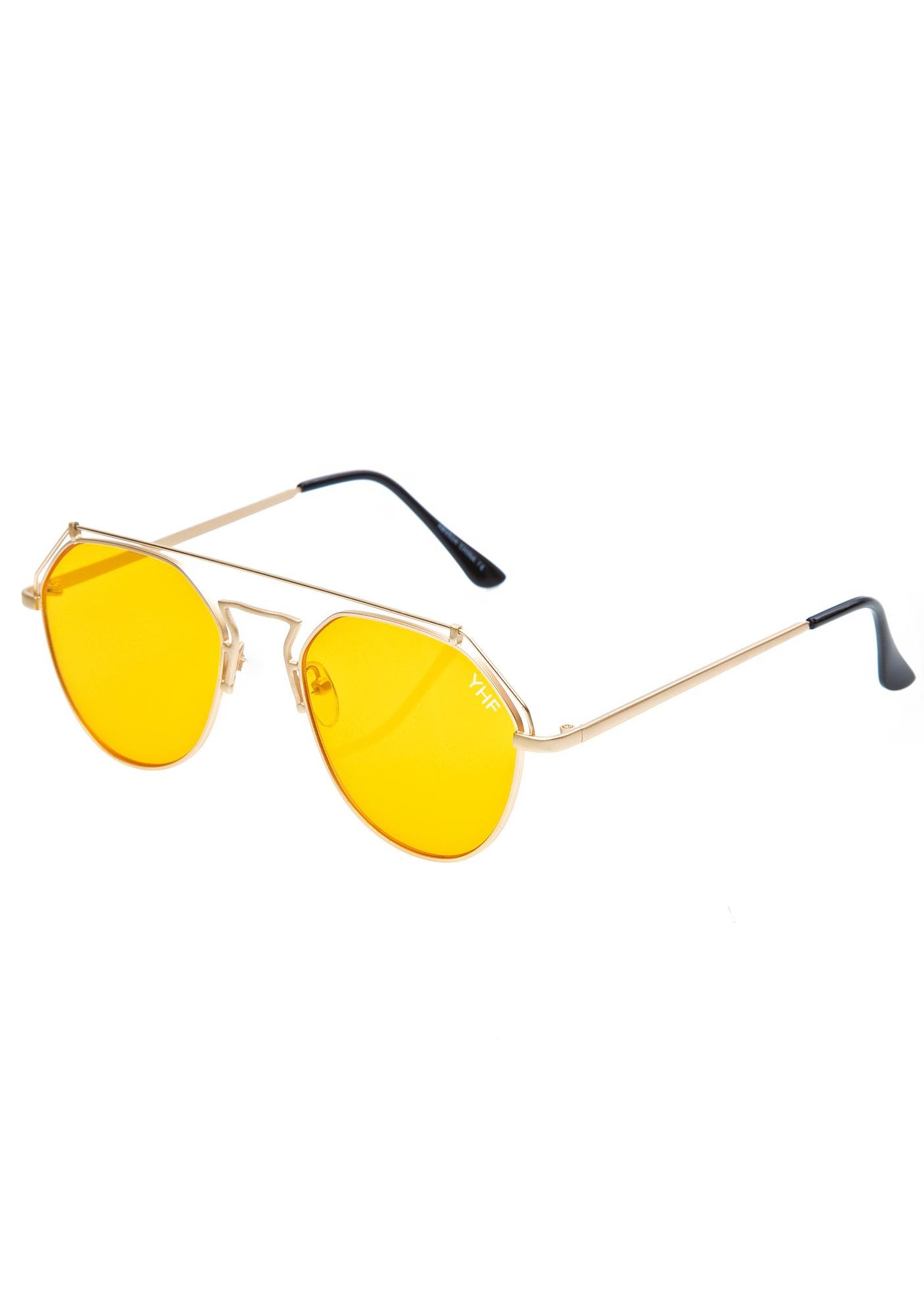 YHF Yellow Stephanie Matte Sunglasses