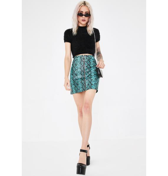 Tiger Mist Tash Snake Mini Skirt