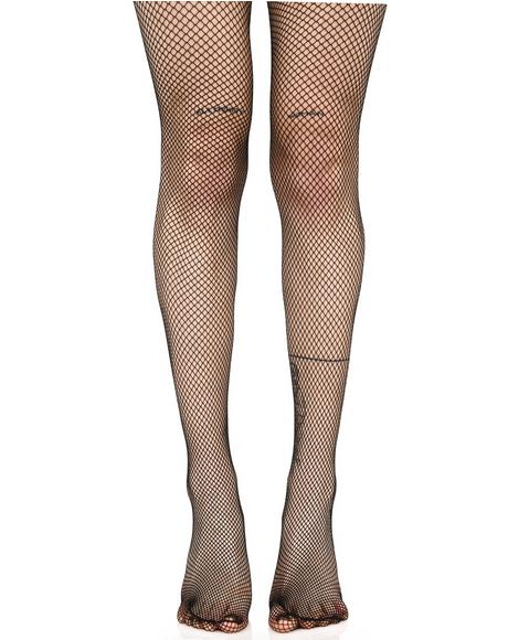 Demon Days Fishnet Tights