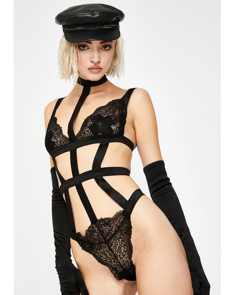 Dark Damsel Lace Teddy