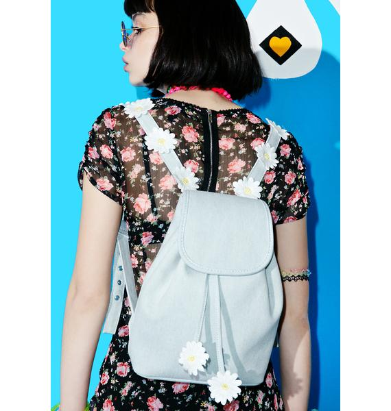 Sugar Thrillz Denim Daisy Backpack