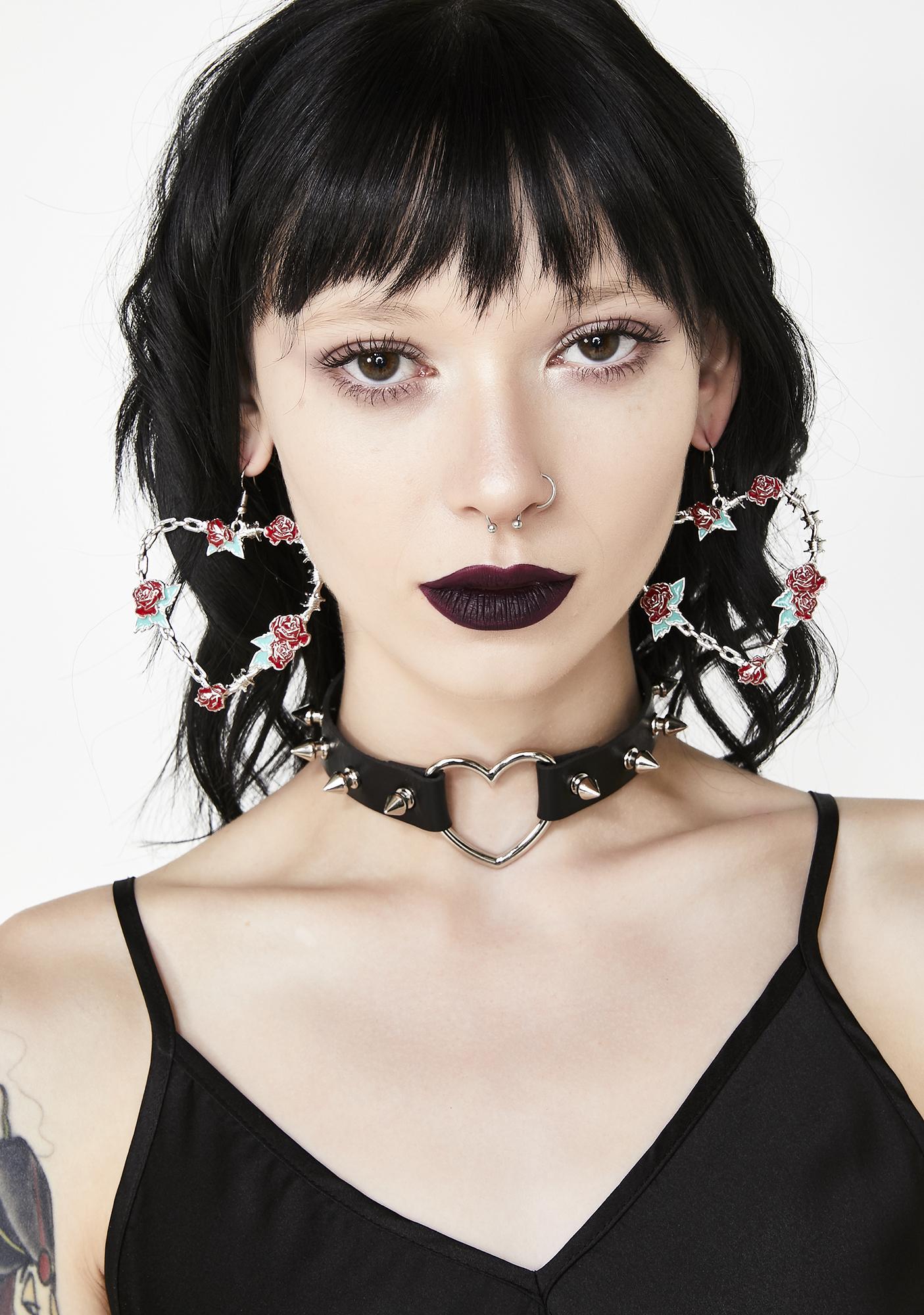 Fully Bloomed Heart Earrings