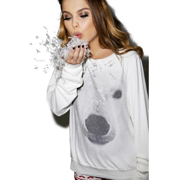 Wildfox Couture Polar Bear Baggy Beach Jumper