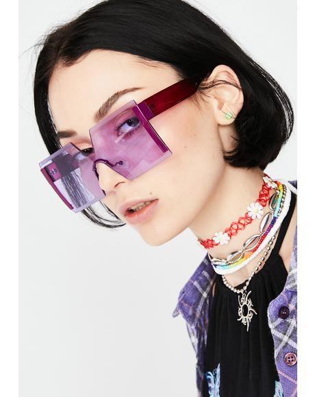 Far Out Freaq Square Sunglasses