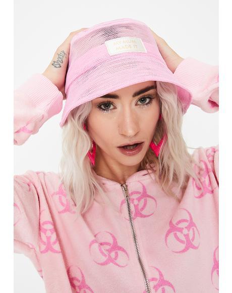 Pink Mesh Bucket Hat