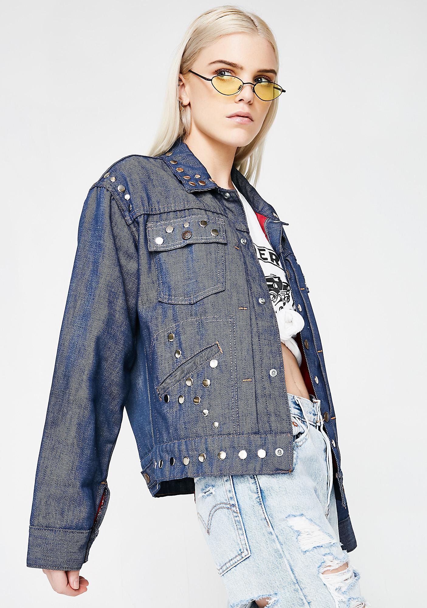 Vintage Studded Denim Jacket