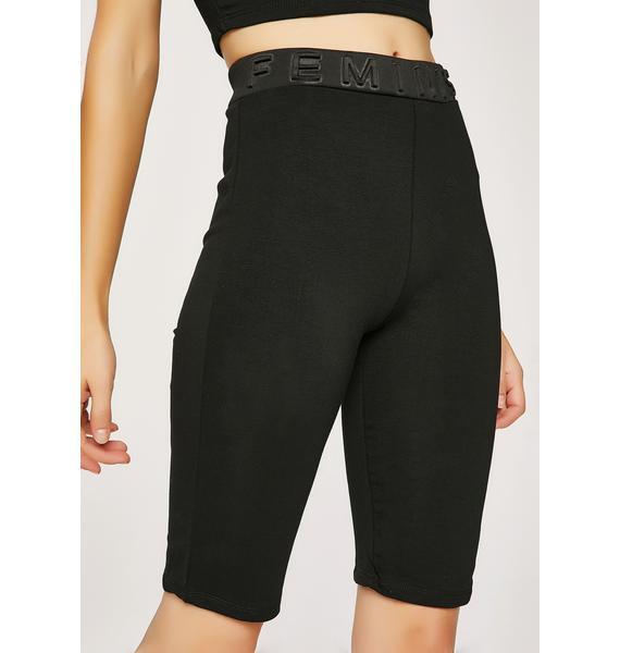 Feminist AF Biker Shorts