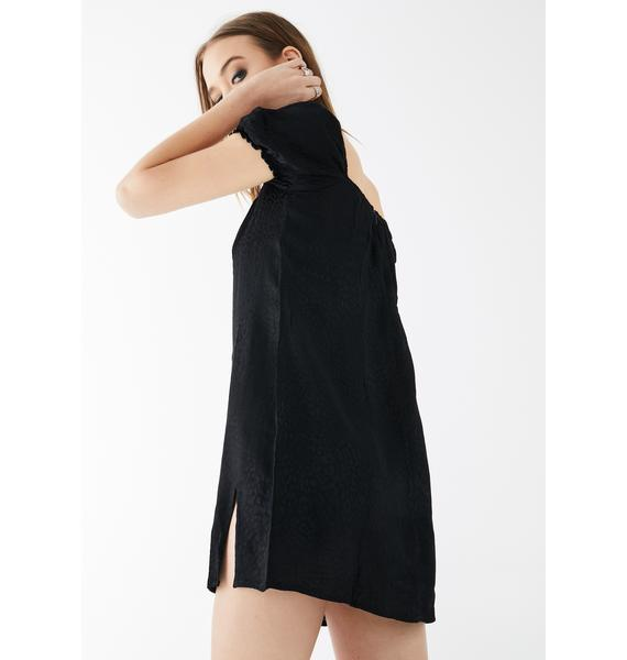 Motel Black Cheetah Lomna Dress