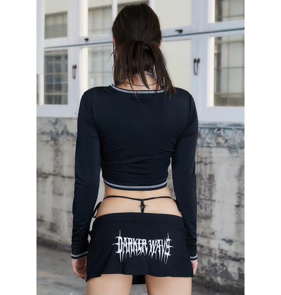 DARKER WAVS Kickdrum Long Sleeve Logo Tee