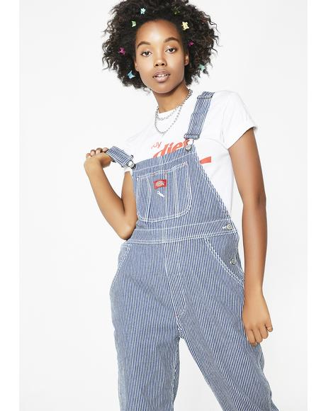 Hickory Stripe Denim Overalls